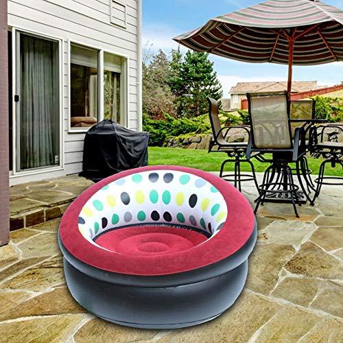 Xlcukx - Sofá hinchable para festivales Sun Lounger Sofá de jardín grueso, taburete hinchable, silla plegable para casa o camping Well-Suited