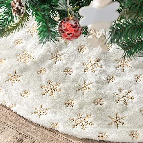 N /A Henrey Tech Gonne per Alberi di Natale 78cm /30 pollice Peluche bianco Tappeto Copertura inferiore Decorazione di Festa di Natale