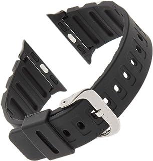 Gilden for Apple 38mm/40mm Extra-Long Black Waterproof Polyurethane Watch Band 017270-SMART