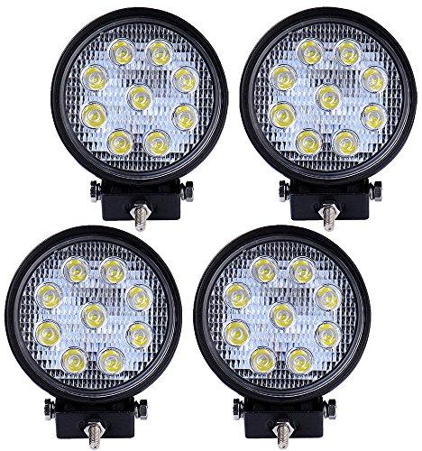 4 Stück 27W LED Lampe Scheinwerfer Spot Arbeitsscheinwerfer Arbeitslicht IP67 rund warmweiß