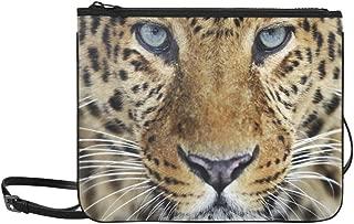 Leopard In The Wild On The Island Of Sri Lanka Pattern Custom High-grade Nylon Slim Clutch Bag Cross-body Bag Shoulder Bag