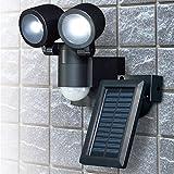 エルパ ソーラーLEDセンサーライト2灯