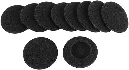 Spugna per cuffie - TOOGOO(R) 10 Spugnette Morbide protettive orecchio nero per Cuffie da 5cm