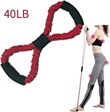 Figure 8 Resistance Band Ultra Toner Heavy Duty Workout Tube for Upper Lower Body Stretching Rehabilitation Strength Functional Training Pilates Yoga