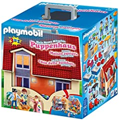 Enjoy some fun on the go with the Take Along Modern Dollhouse Take-along case with latch opens up to reveal a two-story house with four fully-furnished rooms Families can gather for a home-cooked meal in the kitchen or watch TV in the family room Tak...