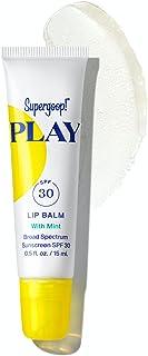 Supergoop! PLAY Lip Balm SPF 30 with Mint, 0.5 fl oz - Reef Safe, Broad Spectrum SPF Lip Balm with Hydrating Honey, Shea B...