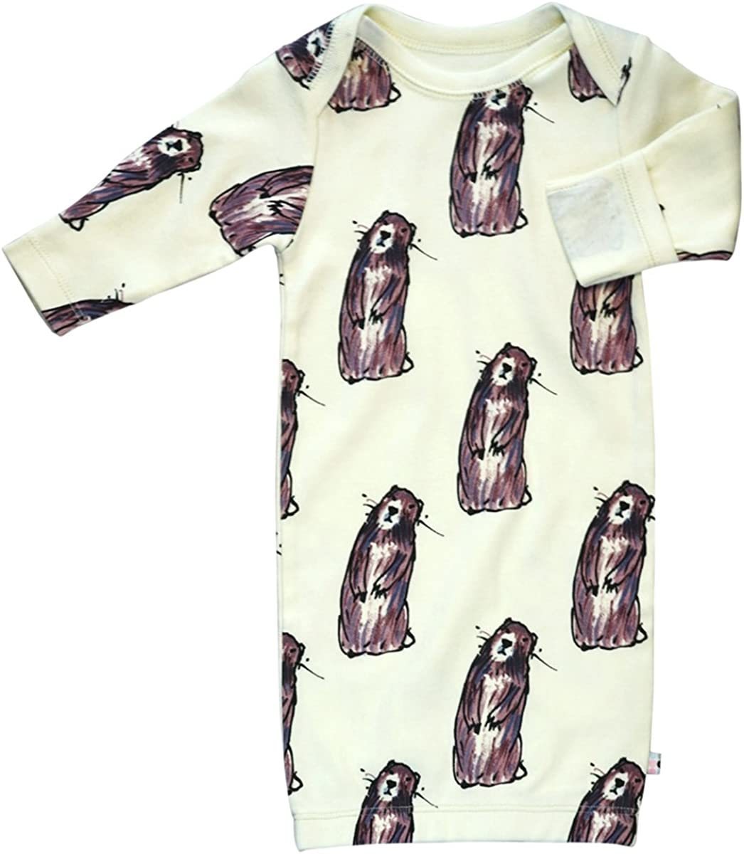 Babysoy Long Sleeve Baby Infant Pattern Shipping included Slee Department store Animal Gown Newborn