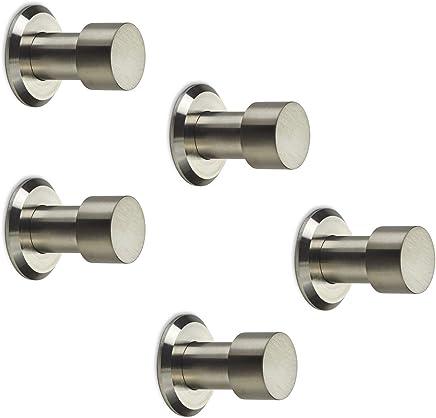 10 x Gancho Giratorio Triple TROMSO Acabado Cromado Negro 53 x 50 mm Base /Ø 40 mm Distancia Agujero 25 mm Aluminio