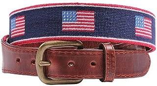 American Flag Stripe Needlepoint Belt by Smathers & Branson