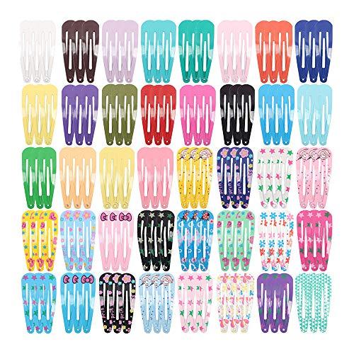 NIAGUOJI 120 Stück Haarspangen Mädchen Haarclips mehrfarbige Hairclips für Mädchen Kleinkinder Damen Haarspange Snap für Mädchen, Kinder, Kleinkinder