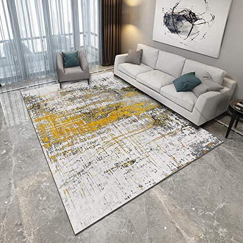 NF Alfombra de área grande, estilo nórdico, para sala de estar, dormitorio, abstracción, luz de lujo, antideslizante, lavable, alfombra de baño, cocina, alfombra pequeña