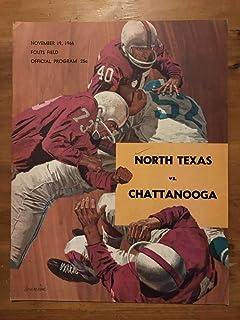 NORTH TEXAS CHATTANOOGA COLLEGE FOOTBALL PROGRAM - 1966 - EX