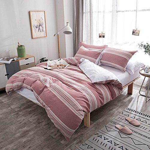 Merryfeel 100% Baumwolle Garn gefärbt Bettwäsche-Set - (Double Set) 200x200+2x50x75cm