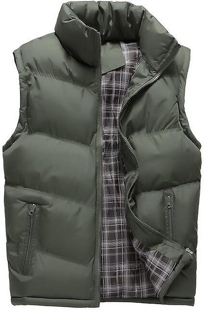 Only Faith Men's Vest Warm Down Cotton Waistcoat Sleeveless Jacket