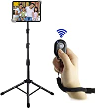 Ipad Tripod Stand, Bijisi Height Adjustable 20 to 60 Inch Tablet Tripod Mount for Ipad Pro 12.9