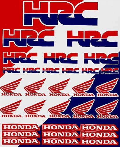 Enjoy Mfg Motorcycle Sticker Sheet Decal Graphics for Honda HRC Racing