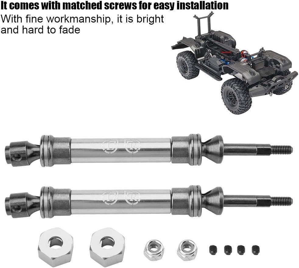 V GEBY Rear Drive Shaft 2pcs Rear Drive Shaft CVD Transmission Axle for Slash 4X4 1//10 Truck