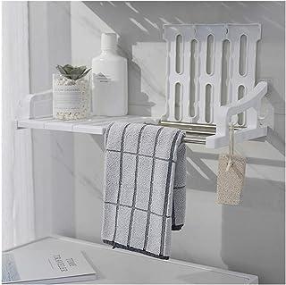 Étagère d'angle Douche Salle de bain en plastique adhésif étagère d'angle Douche Caddies étagère murale Salle de bains Ran...