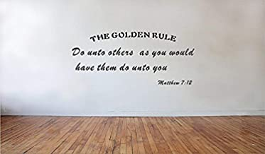 A Design World Home Quotes Wall Stickers Do Unto Others Matthew 712 The Golden Rule Bible Quotes Vinyl Wall Decal Faith fo...