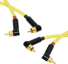 star-quad par estéreo de RCA Dual fono. Van Damme Cable. Chapado en oro en ángulo. RCAs
