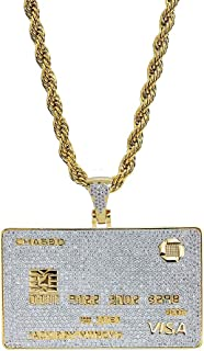 TOPGRILLZ 14K Gold Plated Custom Iced Out Credit V Card...