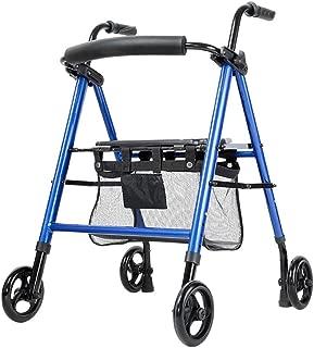 Walker Rollator Walker Rolling Walkers Fold Rollator Rollator Aluminum Alloy Walkers for Seniors Walker with Seat Shopping Cart for The Elderly (Color : Blue, Size : 57 * 65 * 97cm)