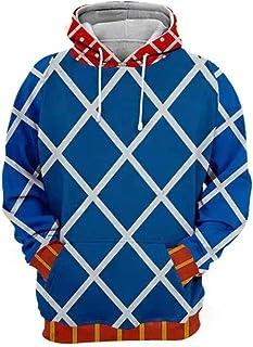 JoJo's Bizarre Adventure Hoodie 3D Printed Zipper Jacket Pullover Sweatshirt Anime Cartoon Cosplay Costume