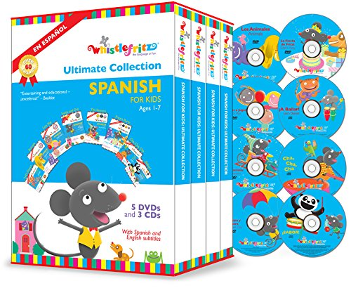 Spanish for Kids: The Ultimate Collection (5 DVDs, 3 CDs)