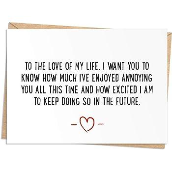 Future Wife Girlfriend Boyfriend Valentines Day Card Humour Funny Husband