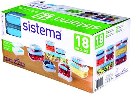 Sistema Klip It Accents 18-Piece Food Storage Container Set