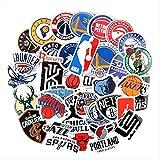 ZAQ 37 Pegatinas De La NBA Logotipo del Equipo De Baloncesto Icono del Logotipo Emblema De La Bola Estrella Maleta Portátil Pegatina Impermeable