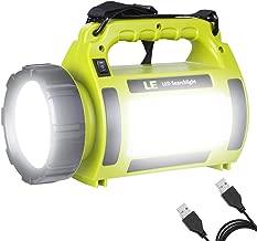 LE Lampada da Campeggio CREE LED 5 in 1 Funzione, 1000lm 10W Torcia Lanterna con 5 Modalità, 3600mAh Ricaricabile USB LED Luce Portatile per Illuminazione Interna e Attività all'Aperto