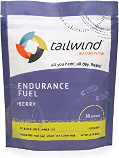 Tailwind Nutrition Berry 30 Serving - Hydration Drink Mix with Electrolytes, Carbohydrates - Non-GMO, Gluten-Free, Vegan, ...