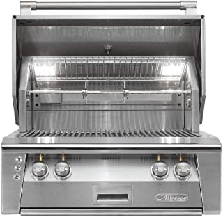 Alfresco ALXE-30SZ-LPZNG 30' Sear Zone Grill Natural Gas Built with 77000 BTUH and Integrated Rotisserie System with Built-In Motor in Stainless