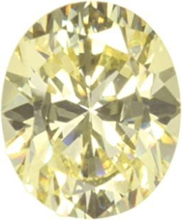 Cz Canary Yellow Oval Unset Gemstone 12 X 10mm (1)