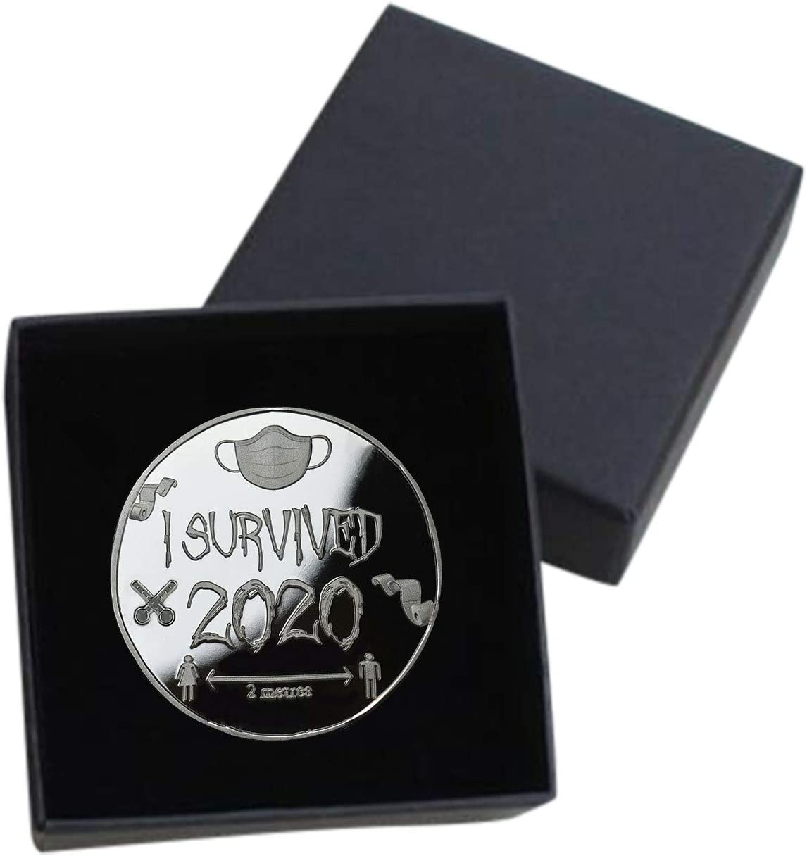 UpdateClassic I Survived 2020 Commemorative Coin Coins for Collectors to Memorialize This Weird Year 2020 Commemorative Coins A, 1PC