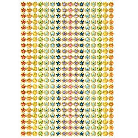 Autocollants scolaires 10 mm Mini Multi Expression