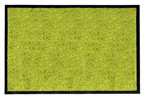 Andiamo 700622 Schmutzfang Fußabtreter Türmatte, Uni, 60 x 90 cm, grün