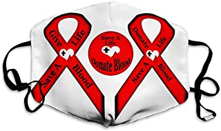 Mouth Mask Outdoor Face Mask For Women Washable And Reusable save life give donate blood illustrated ribbons button red black white hearts black drop blood transparent png file
