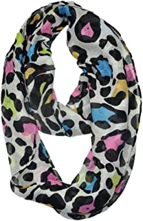WishCart Lightweight Solid Color Girls Infinity Circle Scarf