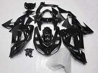 PROMOTOR Painted Fairing kit Motorcycle Fairings for KAWASAKI NINJA ZX-10R 2006-2007 (Glossy Black)