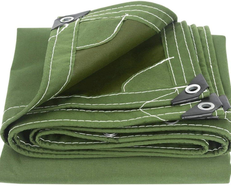 Tarpaulin Waterproof Tent Roof Translucent Gardening Mothproof, Thick Rainproof Sunscreen Shading Cloth 420G   M2, Green, Various Sizes Carl Artbay Tarpaulin (color   Green, Size   5x5M)