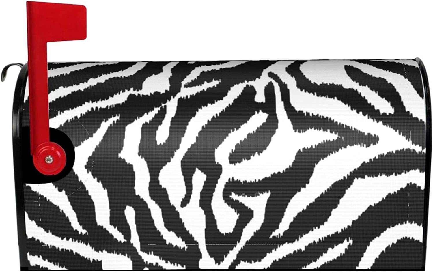 Limited Special Price ~ Zebra Print Mailbox Cover Wr Decor Magnetic Max 84% OFF Waterproof