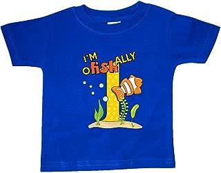 I'm O-Fish-Ally One Cute Clownfish First Birthday Baby T-Shirt 28f9a