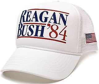 Reagan Bush 84 Hat USA Flag Unisex Adult Cap
