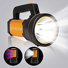 WESLITE Linternas LED de Alta Potencia para Caza con Interruptor de Presi/ón Zoom y 5 Modos Linterna T/áctica Recargable 1200 L/úmenes Bater/ía y Cargador Incluidos