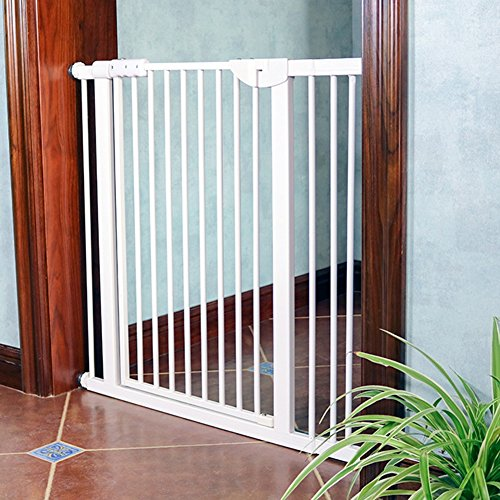 Barrière de sécurité Portes très Haute Pression - Protecteur Mural, Porte Grand pour bébé/Animal de Compagnie, Intérieur/Escalier, Blanc, Largeur 71-173cm, Hauteur 100cm