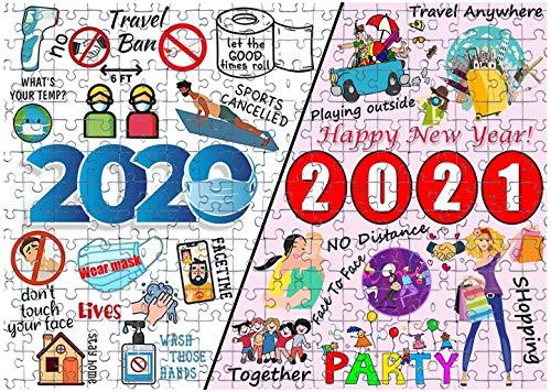 2020 a 2021 Rompecabezas para Adultos, niños, Rompecabezas de Madera con Amigos, Familia para niños, Juego en casa, Juguetes educativos, 2021, Feliz año Nuevo, 500 Piezas