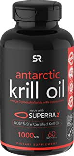 Antarctic Krill Oil (Double Strength) with Omega-3s EPA & DHA + Astaxanthin