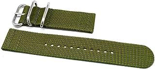 DaLuca Two Piece Ballistic Nylon Watch Strap - Olive : 20mm